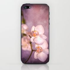 the white orchid - violet texture iPhone & iPod Skin by hannes cmarits (hannes61) - $15.00