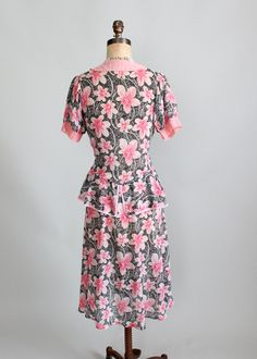1930 floral day dress