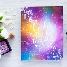 Simon Says Stamp | Galaxy Ink Blended Background - Look For The Miracles...