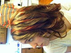 First time doing red highlights.