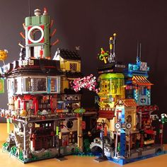 Lego Ninjago City, Lego City, Lego Moc, Lego Lego, Lego Movie Sets, Arts And Crafts For Kids Toddlers, Construction Lego, City Layout, Minecraft Architecture