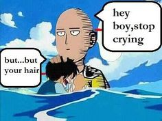 One Punch Man and One piece crossover funny Monkey D. Luffy and Saitama
