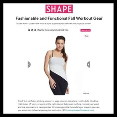 Our Asymmetrical Top was a top pick in  @shapemagazine  | Learn more about the top here: http://www.nancyroseperformance.com/asymmetrical-top