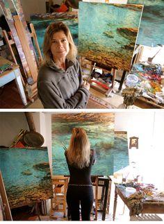 Caroline Zimmermann #artist #artistatwork #studio
