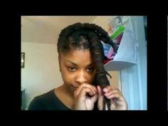 Barrel twist loc tutorial....  I am sooo trying this on my locs!!!