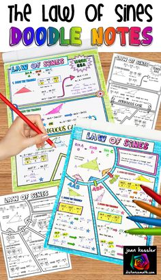 Great engaging activity for Trig Algebra 2 or PreCalc. Students love to doodle, and doodling has been shown to help them focus on the task at hand. Math Teacher, Math Classroom, Teaching Math, Algebra Activities, Maths Algebra, Algebra Help, Geometry Activities, Numeracy, Law Of Sines