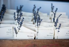 Lavender Escort Cards | Byron Roe Photography | Blog.theknot.com