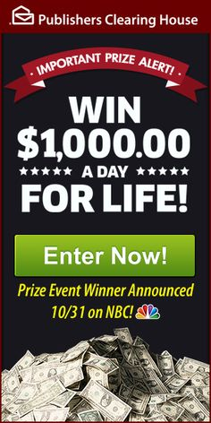Are You on the $1,000.00 A Day For Life Winner Selection List? - PCH Blog Instant Win Sweepstakes, Online Sweepstakes, Wedding Sweepstakes, Travel Sweepstakes, Win Online, Online Games, Win For Life, Winner Announcement, Cash Prize
