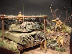 Dioramas and Vignettes: 2S1 «Gvozdika». Tactical exercises, photo #1