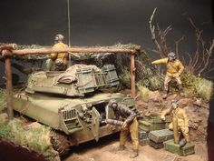 Dioramas and Vignettes: 2S1 «Gvozdika». Tactical exercises, photo #1