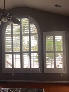 Arched Windows And Rectangular Window Both Look Great With Custom Window  Coverings. Our Plantation Shutters