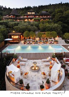 Auberge du Soleil, Napa Valley...Been to napa, but next time I want to stay here!