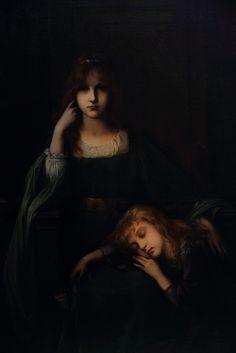 Anne & Jehanne pas Laura Leroux-Revault, 1894 Huile sur toile