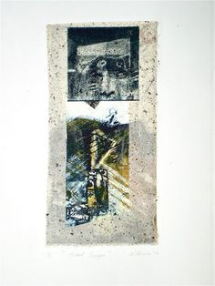 Tidal Surge, 2010, 50x35 cm paper, intaglio, chine-colle and collage by Elaine d'Esterre at elainedesterreart.com and www.facebook.com/elainedesterreart
