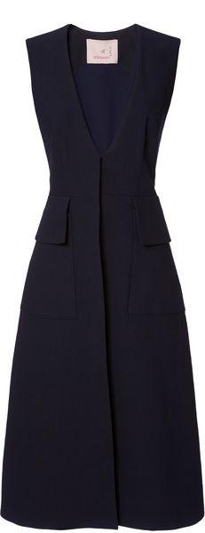 ROKSANDA ILINCIC Sleeveless Tatam Coat, this coat, a little shorter, with jeans and a shirt under Work Fashion, Hijab Fashion, Fashion Dresses, Fashion Design, Mode Hijab, Mode Inspiration, Mode Style, Dress To Impress, Designer Dresses