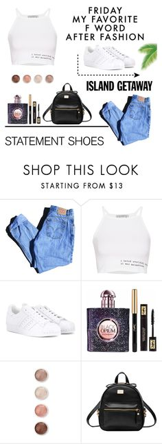 """""""💢 street style 💢"""" by damlastyle ❤ liked on Polyvore featuring Levi's, Pull&Bear, adidas Originals, Yves Saint Laurent and Terre Mère"""