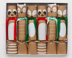 Crackers shaped like woodland animals that contain small gifts, a joke, and a hat.   47 Secret Santa Gifts Under $20 That Everyone Will Want