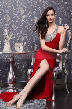 red prom sexy dress