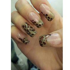 Nail art leopardato