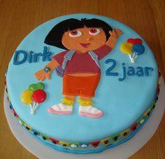 Dora taart voor de 2 jarige Dirk