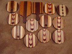 Selection of cutting boards & hot plates - CLICK TO ENLARGE