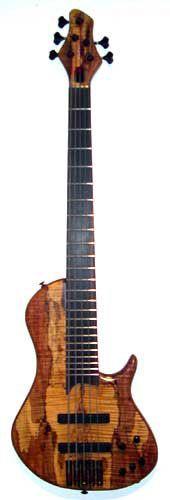 Shuker Singlecut Flame spalted maple 5 string