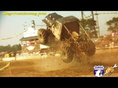 Hot Chick Falls In Mud While Pulling Out Chevy 4x4 Mud
