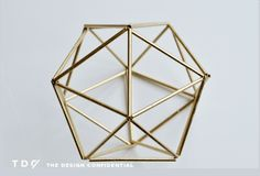 Finished Project The Design Confidential Handmade Decor: DIY Faux Brass Himmeli Orb