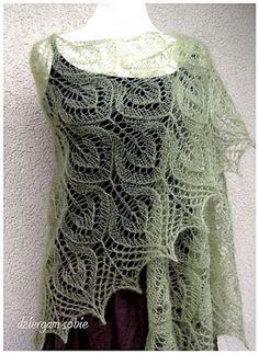 Ravelry: dziergamsobie's Kiwigail in Garnstudio DROPS Kid-silk. Crochet Mens Scarf, Knitted Shawls, Crochet Scarves, Crochet Shawl, Crochet Yarn, Lace Shawls, Lace Knitting Patterns, Knitting Stitches, Hand Knitting