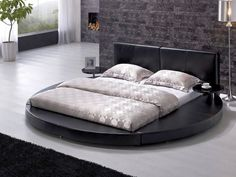 Modern Round Bed Design Ideas - Round Beds For Minimalist Bedrooms. Usually, the general perception of a Modern Round Bed Design Ideas is only. Minimalist House Design, Minimalist Bedroom, Modern Minimalist, Modern Bedroom Decor, Bedroom Furniture, Bedroom Ideas, Circle Bed, Leather Headboard, Round Beds