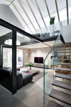 Milano Contract District, con serramenti by www. Store Design, Door Handles, Stairs, Interior Design, Furniture, Home Decor, Ideas, Spiral Staircase, Door Knobs