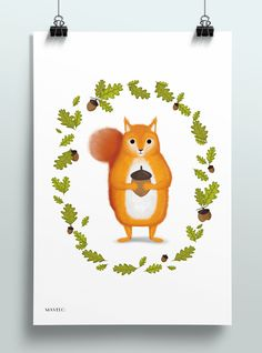 free printable posters for kids | squirrel #printables #freeprintables #squirrel #poster