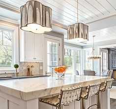 Circa Lighting offers a vast array of light fixtures including pendant lighting and chandeliers. Premier resource of designer lighting for Visual Comfort. Kitchen Interior, New Kitchen, Kitchen Decor, Kitchen Ideas, Kitchen Designs, French Kitchen, Awesome Kitchen, Kitchen Trends, Beautiful Kitchen