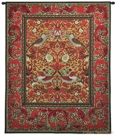 William Morris Strawberry Thief II Wall Tapestry