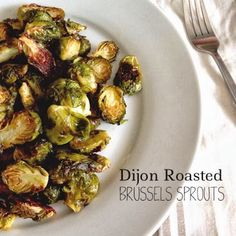 Dijon Roasted Brussels Sprouts (Brussels sprouts, olive oil, Dijon mustard, sugar, salt & pepper)