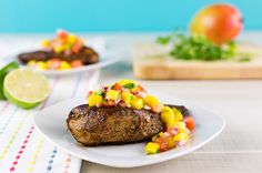 Caribbean Jerk Chicken with Mango Salsa
