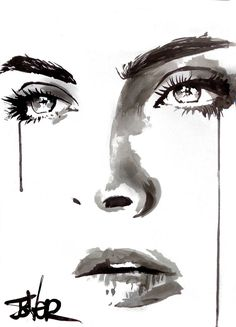 Buy Prints of million reasons, a Ink on Paper by LOUI JOVER from Australia. It portrays: Portrait, relevant to: face, series, emotion, jover, louijover, tears, ink this work forms part of a series of studies in ink of female faces, created on plain white arches paper. this work is ready to frame as desired..over 100 of these works created in the past 8 years are in private and corporate collections throughout the world.