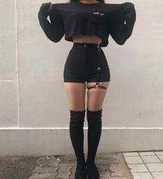 45 Best Summer Outfit Ideas That Are Big on Style, Low on Effort – Mode – Grunge Egirl Fashion, Teen Fashion Outfits, Grunge Outfits, Korean Fashion, Fashion Forms, British Fashion, Fashion Women, Gothic Fashion, Dark Fashion