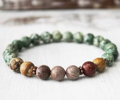 Embrace your earthy energy…. this bracelet is special designed for earth elements. The combination of tree agate, picture jasper, petrified wood jasper and picasso jasper for the maximum energy for ea