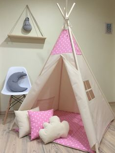 Teepee Play Tent, Teepee Party, Diy Tent, Teepee Kids, Teepees, Tents, Childrens Teepee, University Housing, Nursery Design