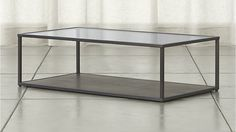Switch Coffee Table   Crate and Barrel - put two side by side for square coffee table in living room