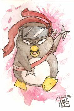 """Per """"L'angolo del Pinguino"""" dedicato ai temibili avversari dei Capitani del gioco di carte ARRR!!! oggi proponiamo il lavoro di @Marlenefasta (cercatela su FB!)"""