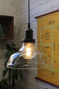 Glass Ceiling Light. Glass pendant light. Online lighting. Vintage retro style light fixture - Fat Shack Vintage - Fat Shack Vintage