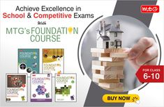 """""""Strong career is built on a strong foundation."""" #MTG's Foundation Course will help you clear your concepts which not only help you in school/board exams but prepare you well to crack any competitive exam. Math Books, Science Books, Hindi Books, General Knowledge Book, Computer Books, Past Papers, Board Exam, Entrance Exam, English Book"""