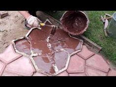 Część 2. Ścieżka ogrodowa kostka brukowa własnymi rękoma - jak zalać formę - YouTube
