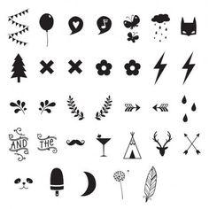 Set de symboles pour lightbox