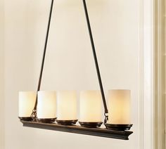 Veranda round chandelier bronze finish i need to see the pictures pottery barn veranda linear chandelier mozeypictures Images