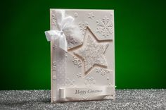 Handmade White Christmas Cards by RoyalStyleWeddings on Etsy