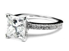 Princess Cut Engagement Ring With Diamond Band 40