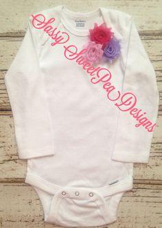 Spring Mini Shabby Flower Onesie.. Newborn, Baby, Girls Photo Prop by SassySweetPeaDesigns on Etsy